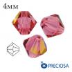Биконусы хрустальные Preciosa 4 мм Indian Pink AB 20 штук/упаковка 062008 - 99 бусин