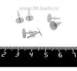 Пуссеты с круглой площадкой 8 мм, с силиконовыми заглушками, нержавеющая сталь, 3 пары/упаковка 062025 - 99 бусин