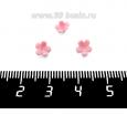 Декоративный элемент Цветочек Малый пришивной, из полимерной глины, цвет розовый, размер около 5-6*2-4 мм, ручная работа, 1 штука 062036 - 99 бусин