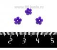 Декоративный элемент Цветочек Малый пришивной, из полимерной глины, цвет фиолетовый, размер около 5-6*2-4 мм, ручная работа, 1 штука 062114 - 99 бусин