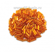 Стеклярус гладкий 7 мм Чехия Preciosa рыжий огонёк 97000 упаковка 10 грамм 07R97000 - 99 бусин