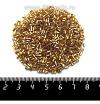 Рубка PRECIOSA граненая, размер 1,5*2,3 мм, Огонек золотистые тона, арт. 17050, 10 грамм, Чехия 09R17050 - 99 бусин