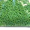 Бисер Чехия PRECIOSA непрозрачный светло-зелёный, радужный блеск, размер 10, арт. 54290 упаковка 50 грамм 10b54290b - 99 бусин