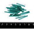 Стеклярус PRECIOSA 25 мм гладкий, цвет 57710 морcкая волна, 25 штук/упаковка 25S57710 - 99 бусин