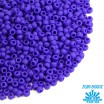 Бисер TOHO №11 цвет 0048F ярко-синий матовый непрозрачный ЯПОНИЯ пакет 10 граммов t110048F - 99 бусин
