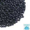 Бисер TOHO №11 цвет 0049F черный матовый непрозрачный ЯПОНИЯ пакет 10 граммов t110049F - 99 бусин