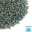 Бисер TOHO №11 цвет 0990 голубой с золотым центром ЯПОНИЯ пакет 10 граммов t110990 - 99 бусин