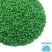 Бисер TOHO №15 цвет 47D зелёный непрозрачный ЯПОНИЯ пакет 5 граммов t150047D - 99 бусин