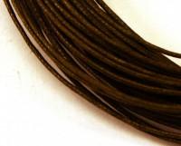 Шнур вощеный 1 мм тёмно-коричневый 6 метров/упаковка 010009 - 99 бусин