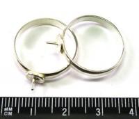 Основа для кольца р.20 посеребреная 1 шт 010010 - 99 бусин