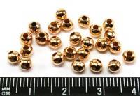 Шарики 3 мм золотистые 70 шт/упак 010189 - 99 бусин