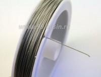 Тросик ювелирный 0,38 мм цвет серебристый, катушка около 42 метров 010196 - 99 бусин