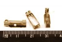 Основа для броши 15 мм 1 отверстие цвет никель, застежка крючок, 6 шт/упаковка 010263 - 99 бусин