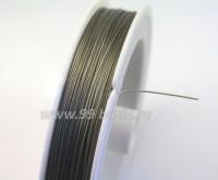 Тросик ювелирный 0,45 серебристый катушка 50 метров 010577 - 99 бусин