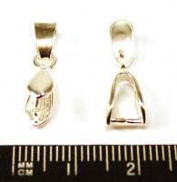 Держатель для кулона №4 светлое серебро 20*4 мм  1 штука 010857 - 99 бусин