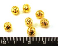Бусина металлическая  Ажурная 6 мм золотистая 15 шт/упак 010934 - 99 бусин