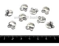 Подвеска Яблочко 11*11 мм, цвет старое серебро 9 штук/упаковка 012572 - 99 бусин