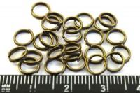 Колечки металлические двойная крутка 6 мм Бронза  70 штук/упаковка 012759 - 99 бусин