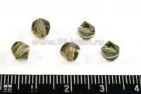 Бусина стеклянная 5 мм многогранник серая 10 шт/упак 01311 - 99 бусин
