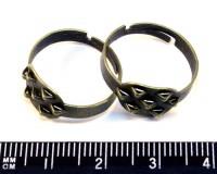 Основа для кольца 7 петель бронза 3 штуки/упак 013507 - 99 бусин