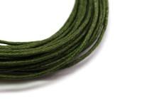 Шнур вощеный 1 мм зеленый/болотный 6 метров/упаковка 013785 - 99 бусин