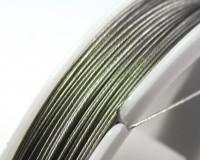 Тросик ювелирный 0,35 мм серебристый около 52 метров/катушка 013835 - 99 бусин