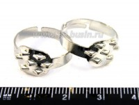 Основа для кольца 7 петель, цвет никель 3 штуки/упаковка 013888 - 99 бусин