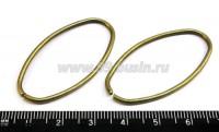 Овал декоративный 42*23*1,5 мм цвет бронза 6 шт/упак 015039 - 99 бусин