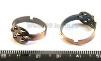Основа для кольца 7 петель цвет медь 3 штуки/упаковка 015337 - 99 бусин