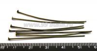 Пины гвоздики 50*0,6 мм цвет бронза 40 шт/упак 01601 - 99 бусин