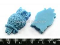 Кабошон акриловый Сова 30*17*8 мм голубой, 1 штука 016101 - 99 бусин