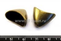 Колпачок Гигант Гладкий, 16*20*12 мм , отверстие 1,5 мм, цвет бронза 1 штука 016375 - 99 бусин