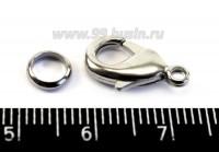Карабин Южная КОРЕЯ 15*8 мм, цвет никель 1 штука 016447 - 99 бусин