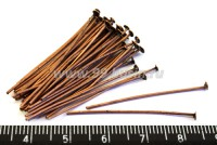 Пины гвоздики 35*0,7 мм, цвет медь 40 шт/упак 016683 - 99 бусин