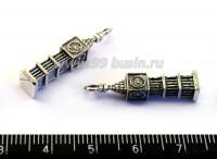 Подвеска Бигбен  25*5 мм, цвет старое серебро 4 штуки/упаковка 016787 - 99 бусин