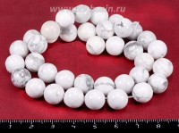 Натуральный камень КАХОЛОНГ бусина круглая 10 мм бело-серый цвет, около 38 см/нить 018071 - 99 бусин