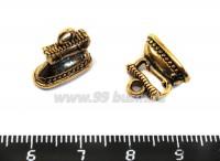 Подвеска Утюг 3D 14*13*7 мм, цвет античное золото 1 штука 018412 - 99 бусин