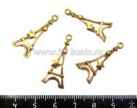 Подвеска Эйфелева башня в Звездах 30*13 мм, цвет античное золото, 4 шт/уп 018477 - 99 бусин
