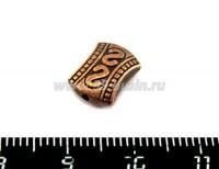 Бусина металлическая Сиртаки 11*8,5*4,5 мм, цвет медь, 1штука 018574 - 99 бусин
