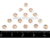 Бусина стеклянная мелкая грань 4*2,5, цвет шампань 15 шт/упак 019397 - 99 бусин