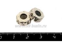 Пандора металлическая Зубчатое колесо, цвет старое серебро с силиконовым стопором 1 штука 019614 - 99 бусин