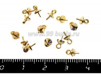 Штифты для пластики с Шапочкой 7*4 мм, цвет золото, 15 штук/упак 019646 - 99 бусин