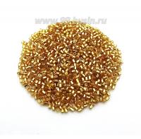 Рубка PRECIOSA граненая, размер 2 мм, золотистый огонёк 17050, 10 грамм, Чехия 02R17050 - 99 бусин