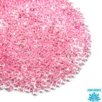 Бисер TOHO Demi Round №11 цвет 379 прозрачный/розовый ЯПОНИЯ 5 граммов 041114 - 99 бусин