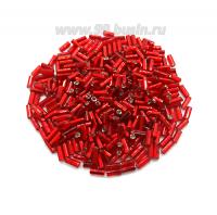 Стеклярус граненый 4,5 мм Чехия Preciosa алый огонёк 97070 упаковка 10 грамм 04R97070 - 99 бусин