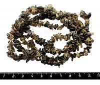 Натуральный камень РАУХТОПАЗ крошка 1,5*4- 5*10 мм, 85 см/нить 051544 - 99 бусин