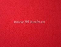 Фетр, материал полиэстр, цвет томатный красный (№ 26), размер 30*20 см,  толщина 1 мм,  1 лист 051870 - 99 бусин