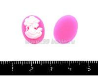 Кабошон акрил Профиль 17,5*13*3,5 мм в розово-белых тонах , 2 штуки в упаковке 052192 - 99 бусин