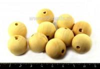 Бусины деревянные круглые 20*18 мм некрашеные 10 штук/упаковка 052798 - 99 бусин
