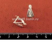 Швензы ювелирные Лабиринт, 16*9*8 мм, посеребрение 12 мкн, 1 пара, производство Россия 053045 - 99 бусин